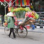 Jour 18 - Hanoi scène de rue 5 (fleurs)