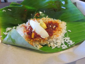 Jour 4 - Malacca street food 1 (nasi lemak)