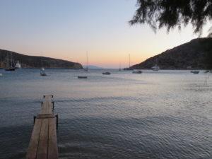 Jour 18 - Soir sur la baie de Vathi